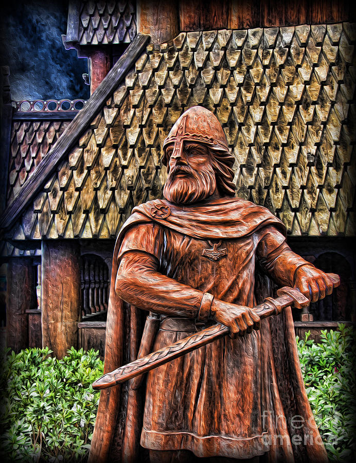 The Viking Warrior Statue  Photograph