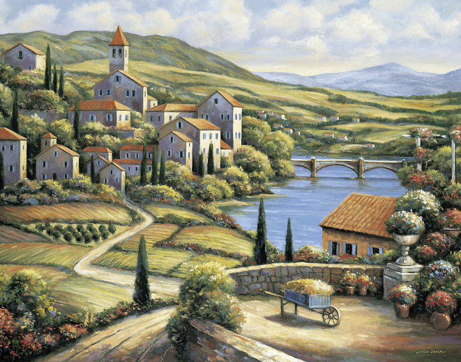 The Village Painting  - The Village Fine Art Print