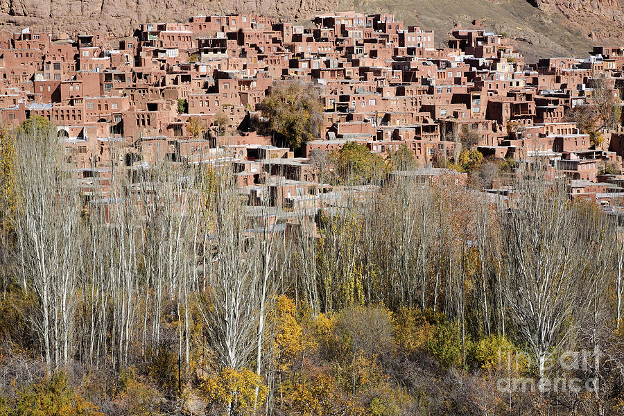 The Village Of Abyaneh In Iran Photograph