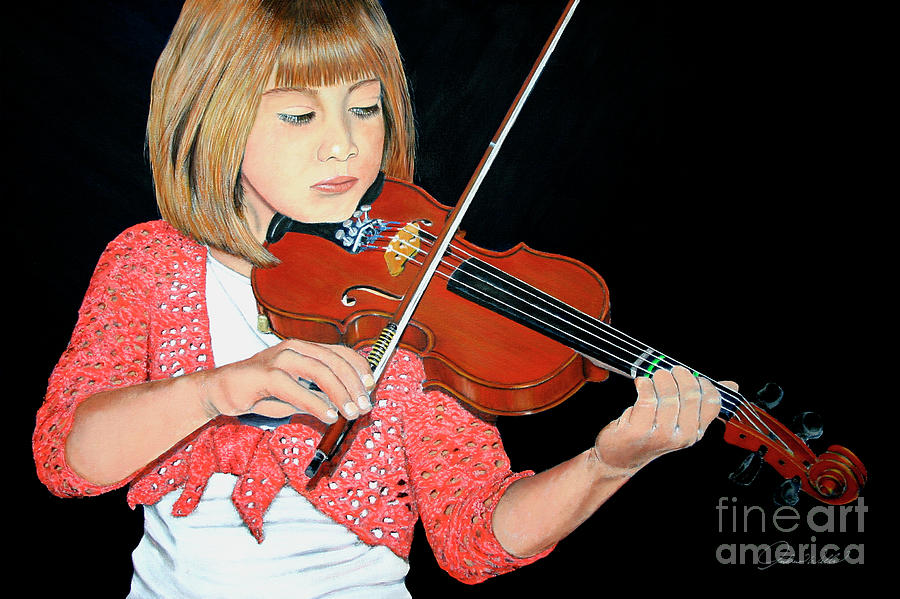 The Violinist Painting