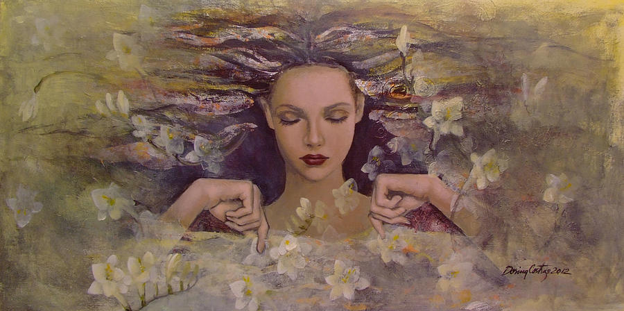 Fantasy Painting - The Voice Of The Thoughts by Dorina  Costras