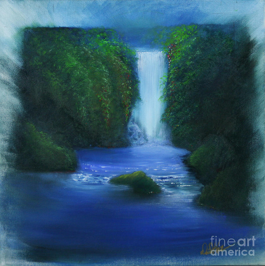 The Waterfall Painting  - The Waterfall Fine Art Print