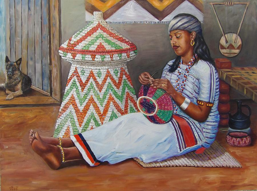 The Weaving Lady Painting