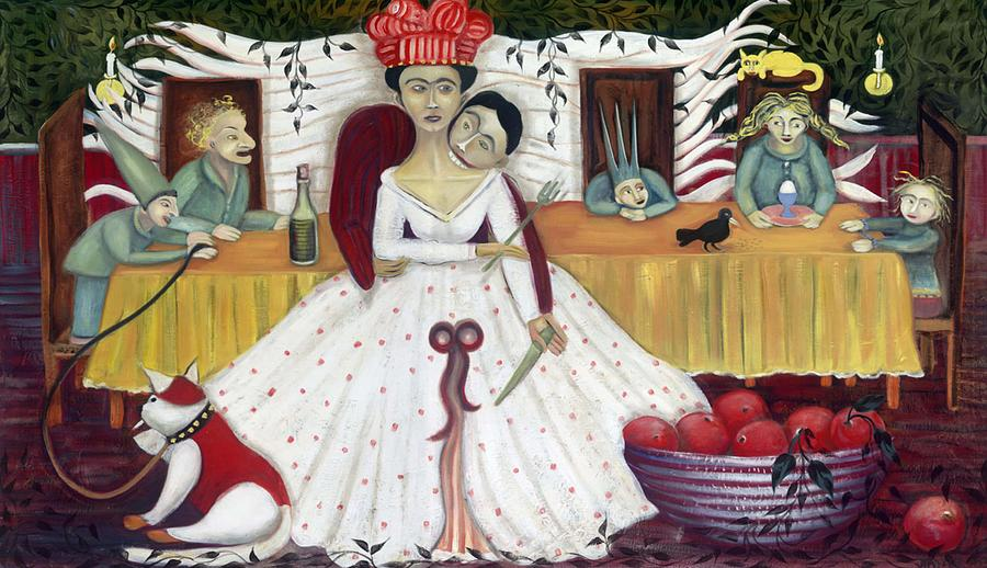 Whimsical Painting - The Wedding by Jennifer Taylor