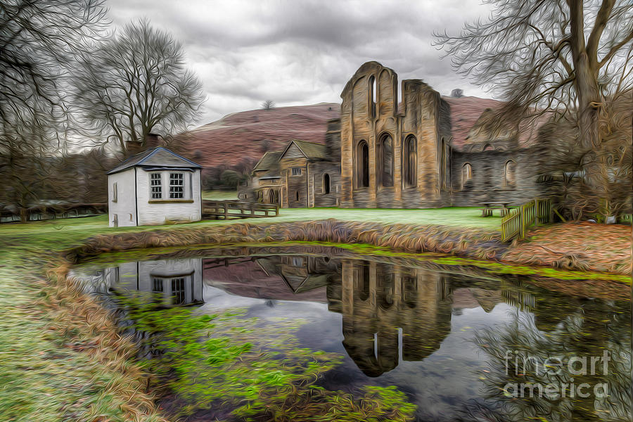 13th Century Photograph - The Welsh Abbey by Adrian Evans
