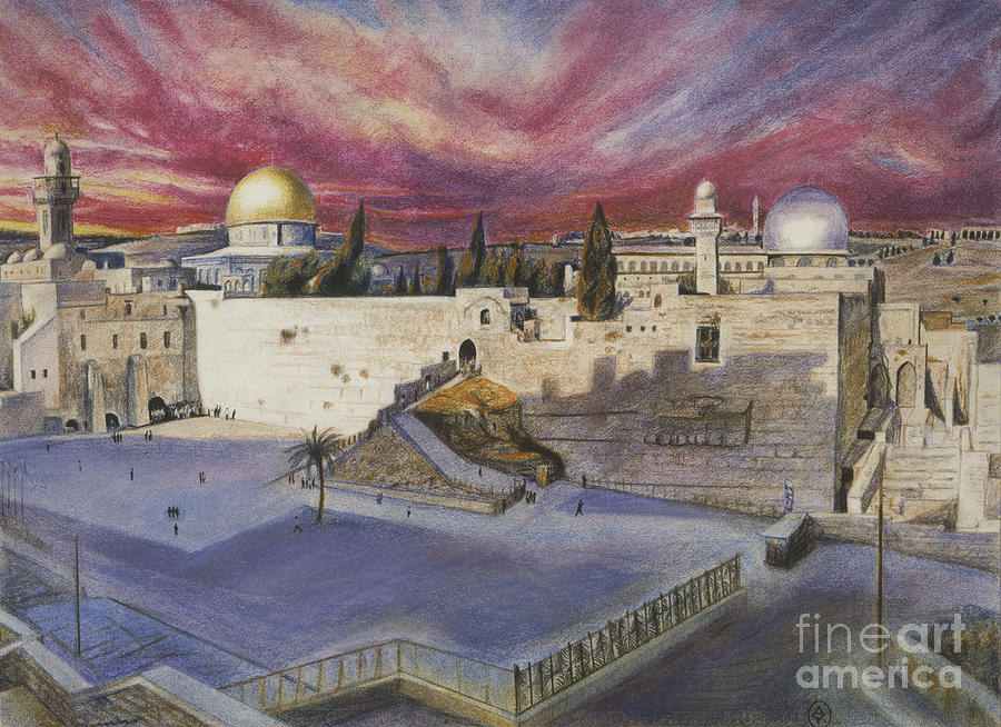 The Western Wall Pastel