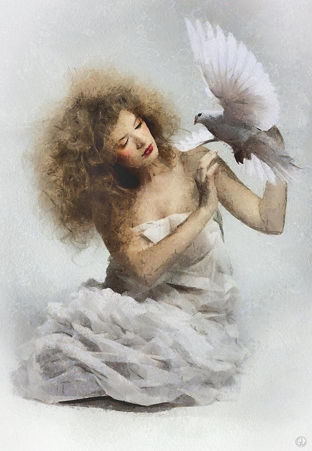 The White Dove Digital Art  - The White Dove Fine Art Print