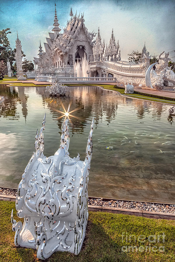 The White Temple Photograph  - The White Temple Fine Art Print
