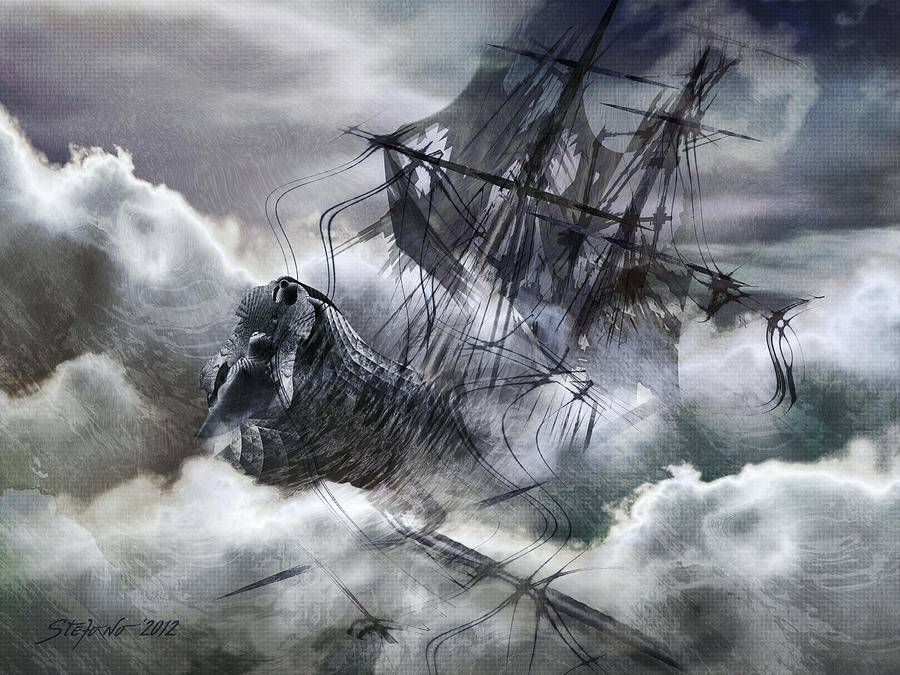 Art Digital Art - The White Wave by Stefano Popovski