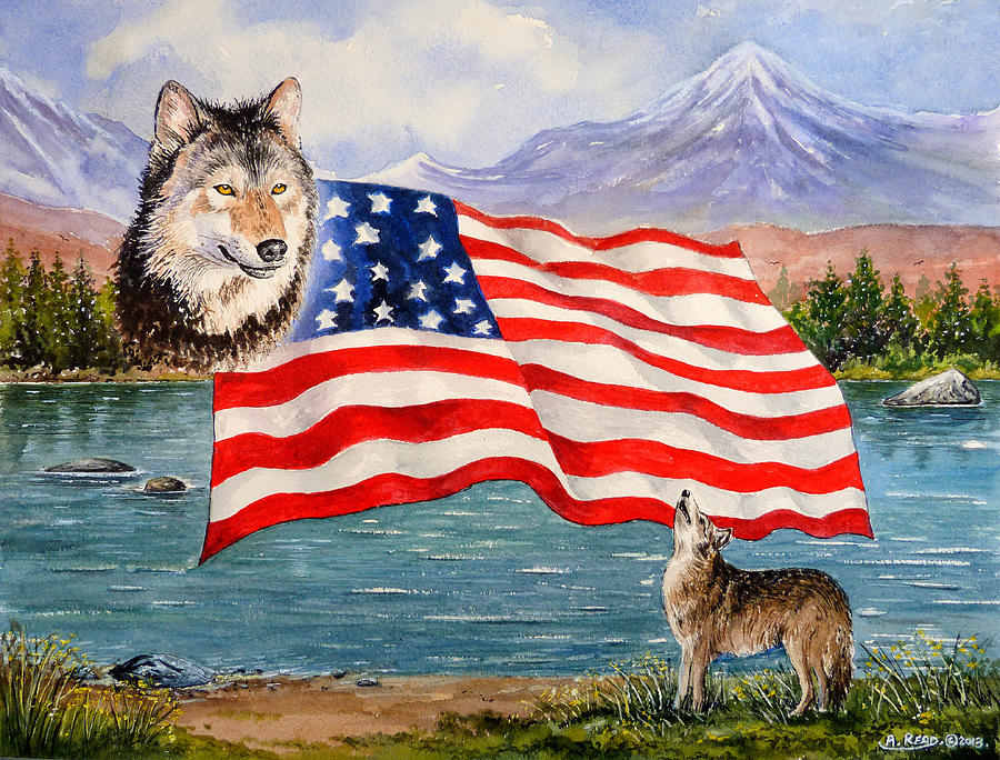 Andrew Read Painting - The Wildlife Freedom Collection 1 by Andrew Read
