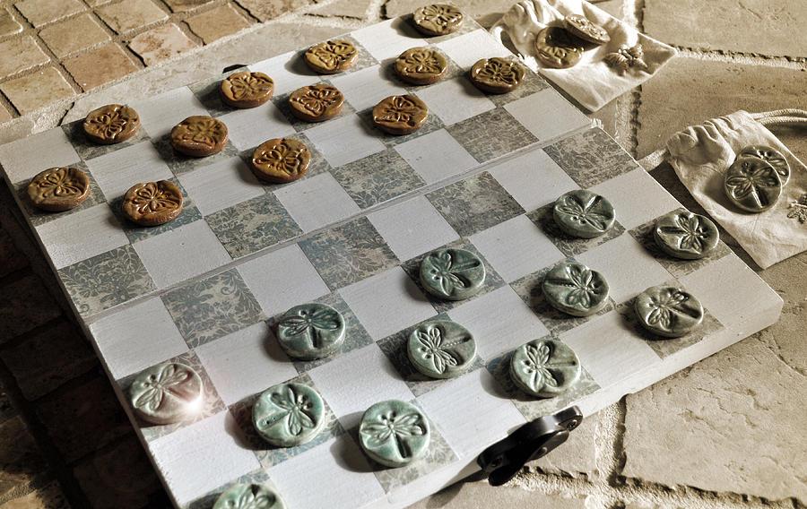 Checkers Ceramic Art - The Win Beneath My Wings by Amanda  Sanford