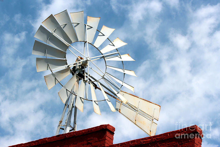 The Wind Wheel Photograph  - The Wind Wheel Fine Art Print