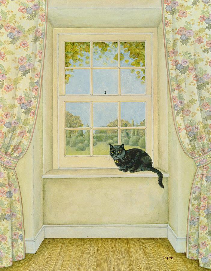 The Window Cat Painting
