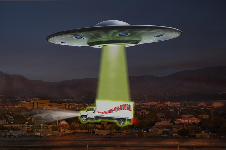 Ufo Photograph - The Wine-oh-store by Mike McGlothlen