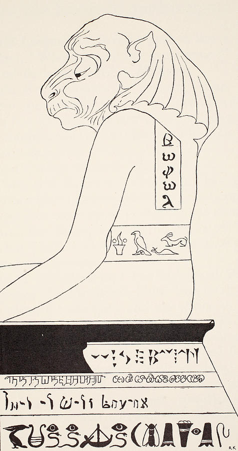 The Wise Baviaan The Dog-headed Baboon Drawing