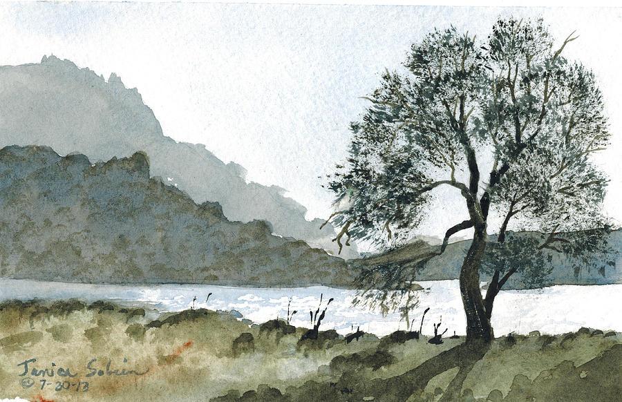Pala Mesa Painting - The Wishing Tree by Janice Sobien