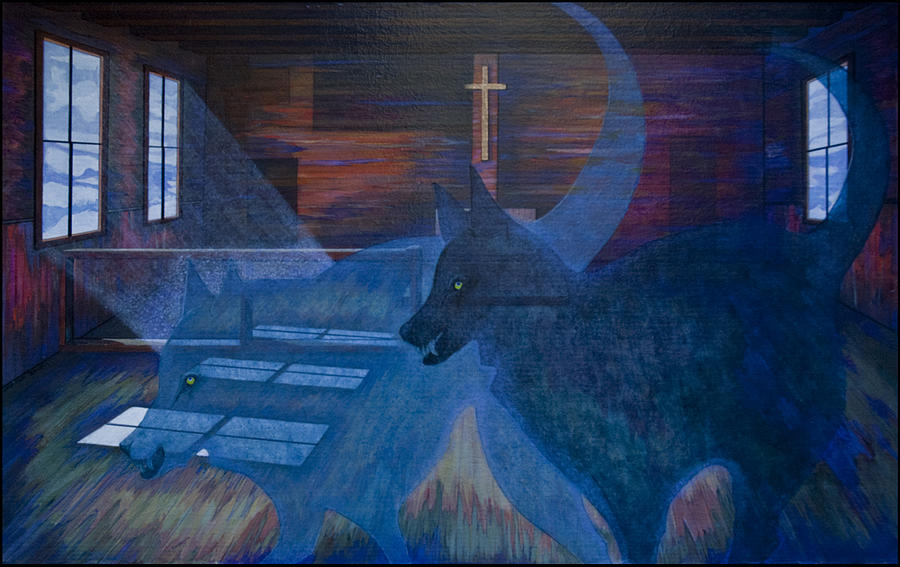The Wolves And The Jesuits Painting  - The Wolves And The Jesuits Fine Art Print