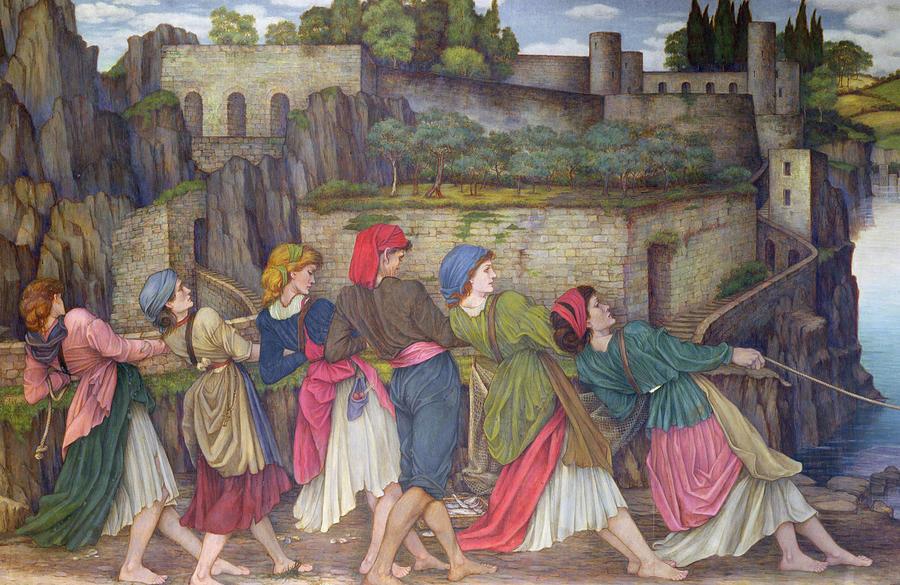 William Painting - The Women Of Sorrento by John Roddam Spencer Stanhope