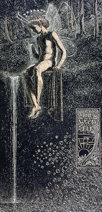 Elfe Des Bois Painting - The Wood Elf by James J Guthrie