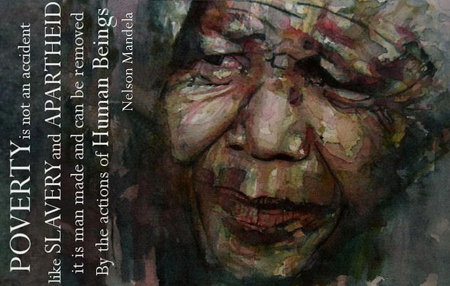 Nelson Mandela  Painting - The World Holds Its Breathe by Paul Lovering
