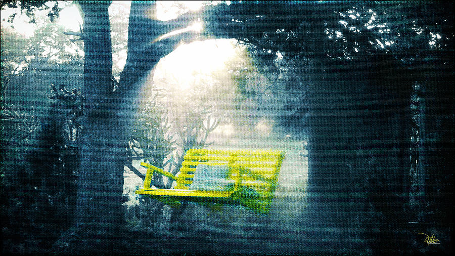 Moorezart Painting - The Yellow Swing by Douglas MooreZart