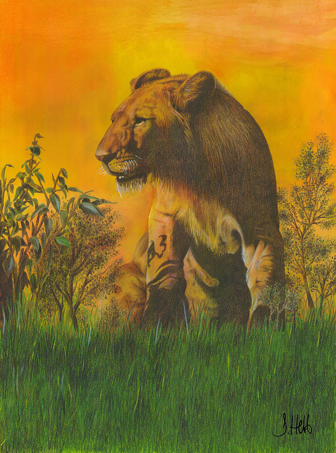 Lion Painting - The Young Pretender by John Hebb