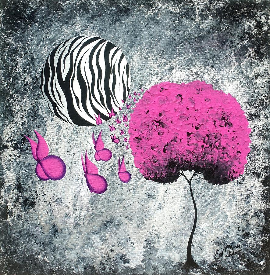 The Zebra Effect 1 Painting  - The Zebra Effect 1 Fine Art Print
