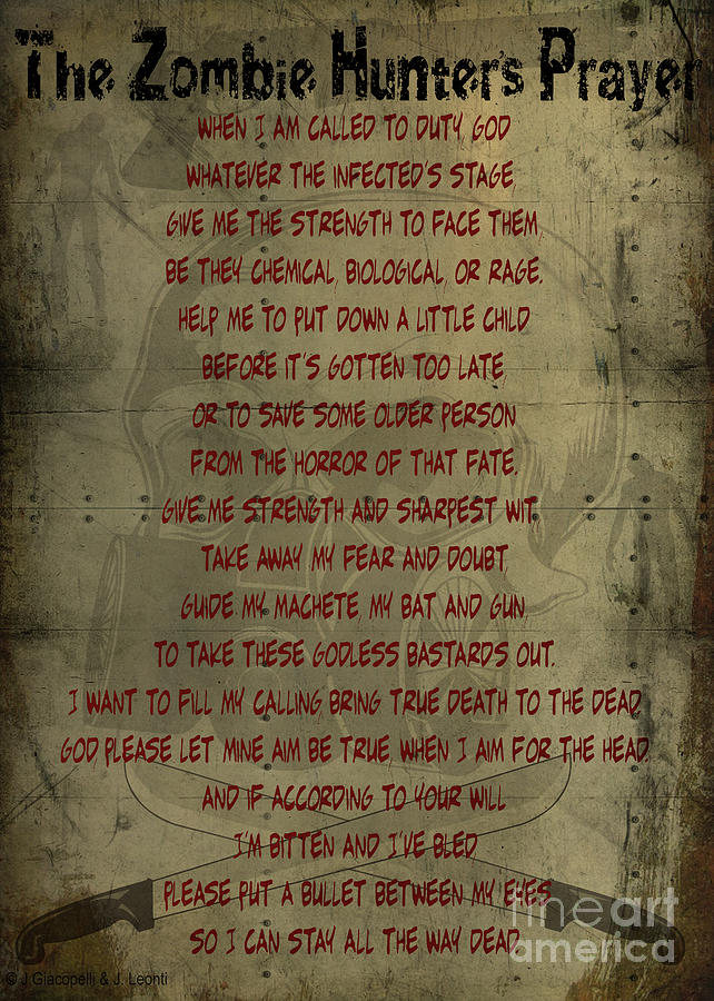 The Zombie Hunters Prayer Painting