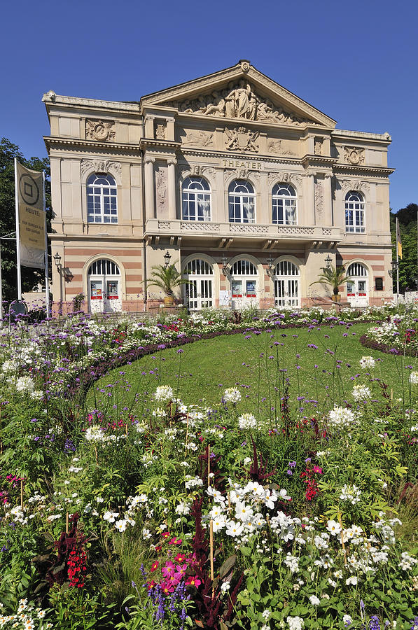Theater Building Baden-baden Germany Photograph  - Theater Building Baden-baden Germany Fine Art Print