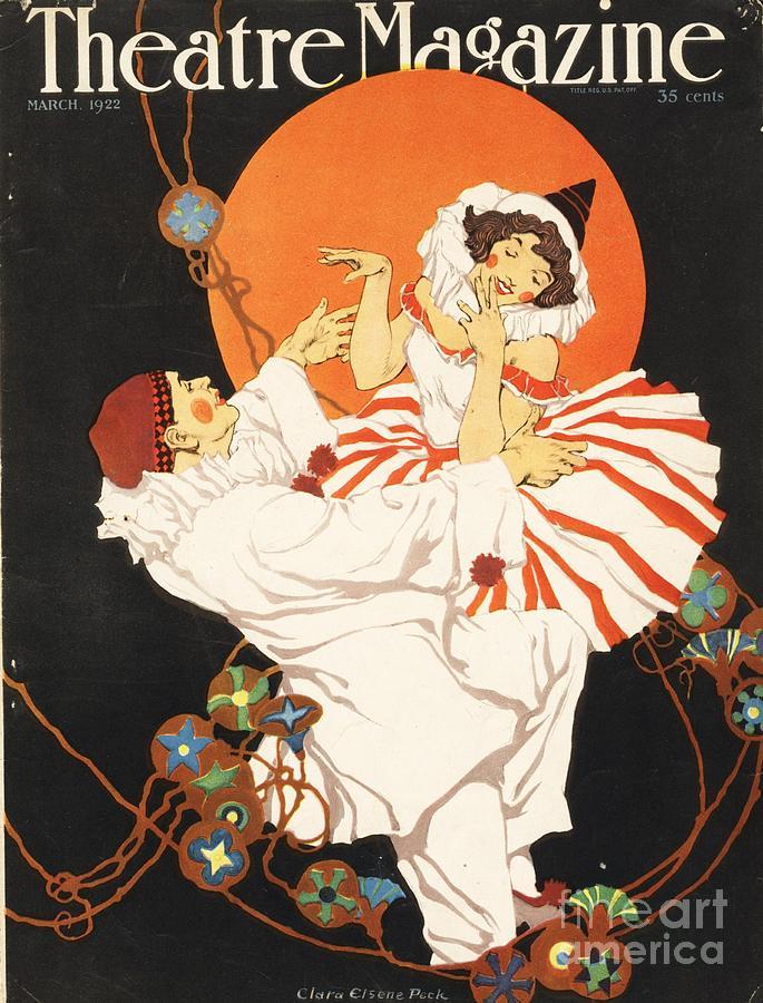 Theatre Magazine 1920s Usa Pierrot Drawing