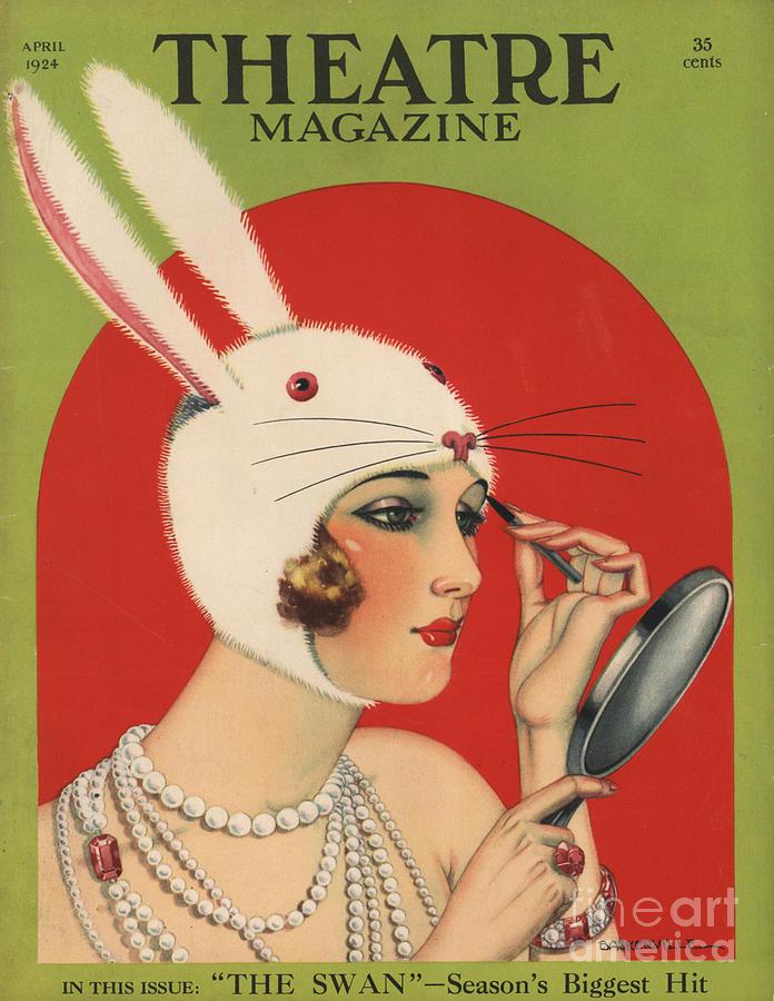 Theatre Magazine 1924 1920s Usa Drawing