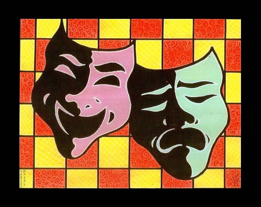 Theatre Masks Painting