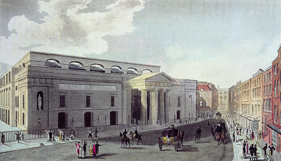 Theatre Royal Covent Garden 1809 Colour Litho Photograph By English School