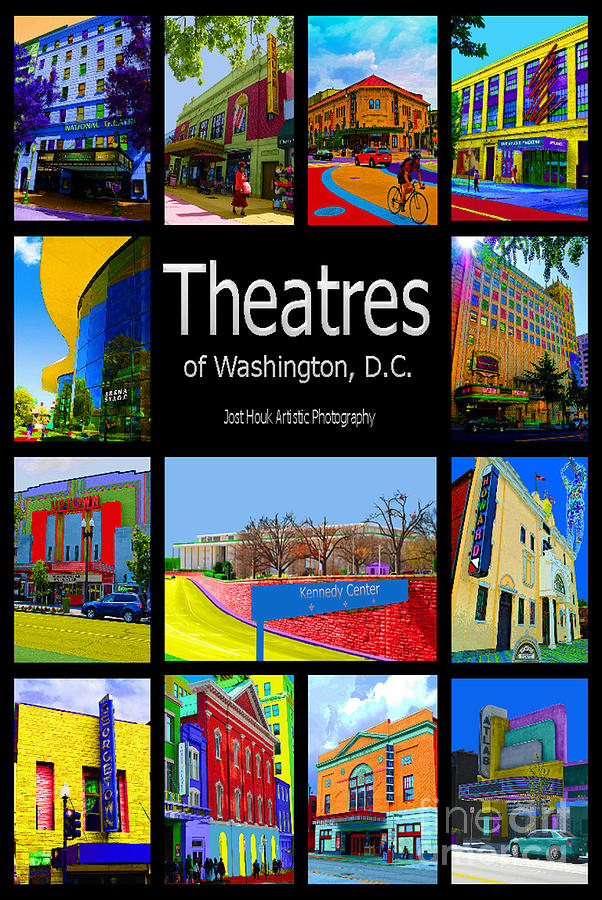 Theatres Of Washington Dc Photograph  - Theatres Of Washington Dc Fine Art Print