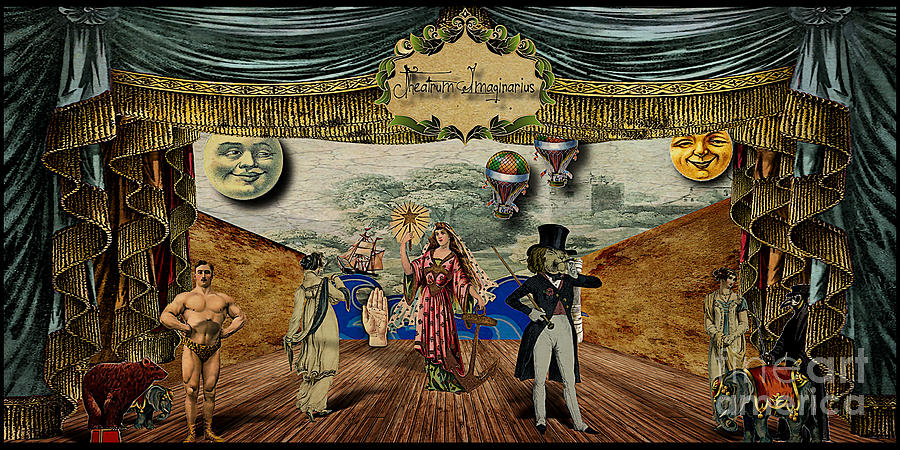 Theatrum Imaginarius -theatre Of The Imaginary Digital Art  - Theatrum Imaginarius -theatre Of The Imaginary Fine Art Print