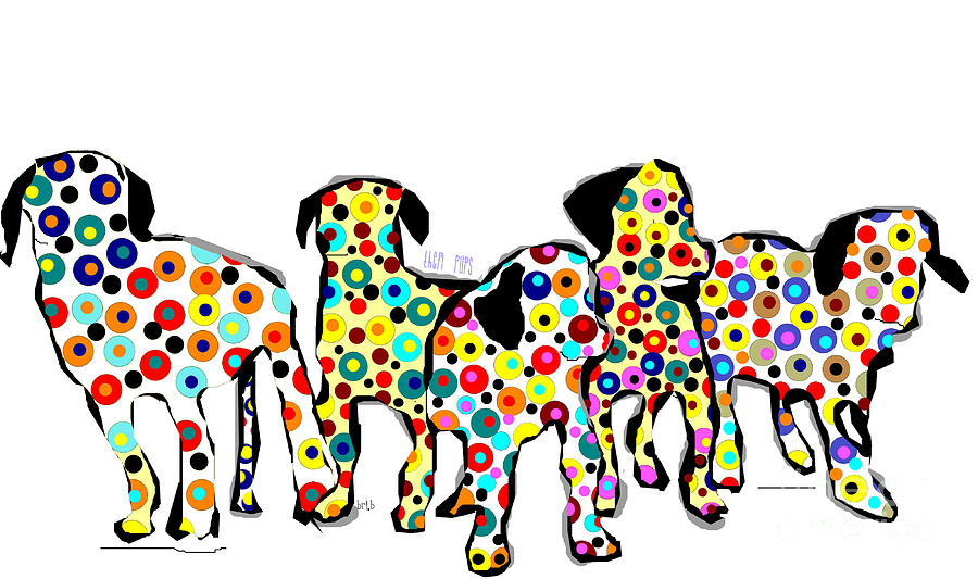 Them Pups Painting  - Them Pups Fine Art Print