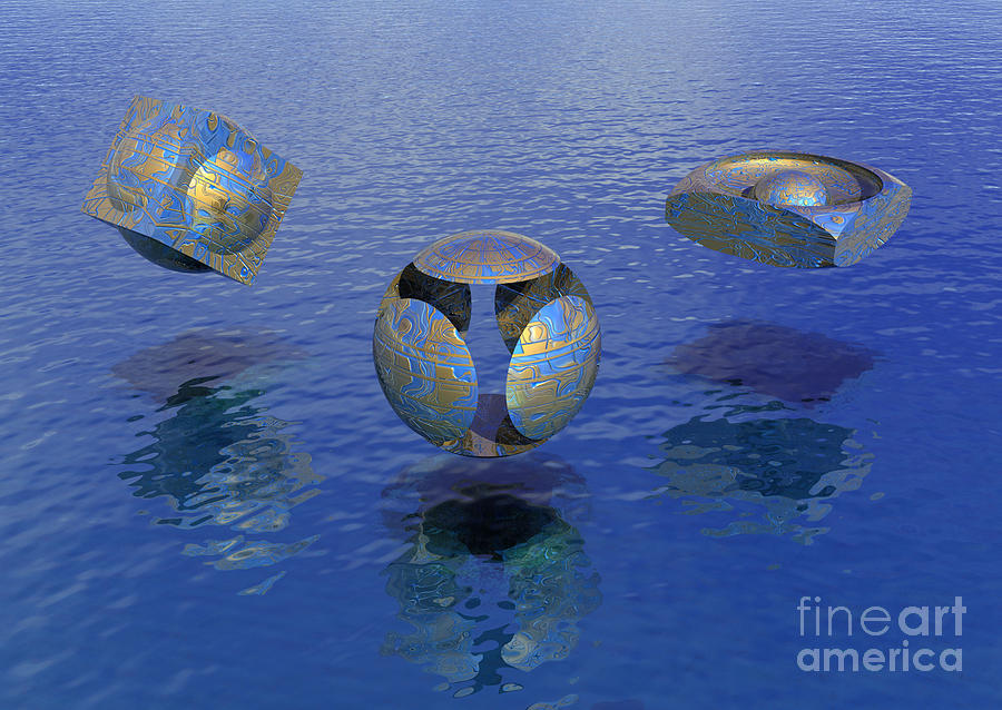 Then There Were Three - Surrealism Digital Art  - Then There Were Three - Surrealism Fine Art Print