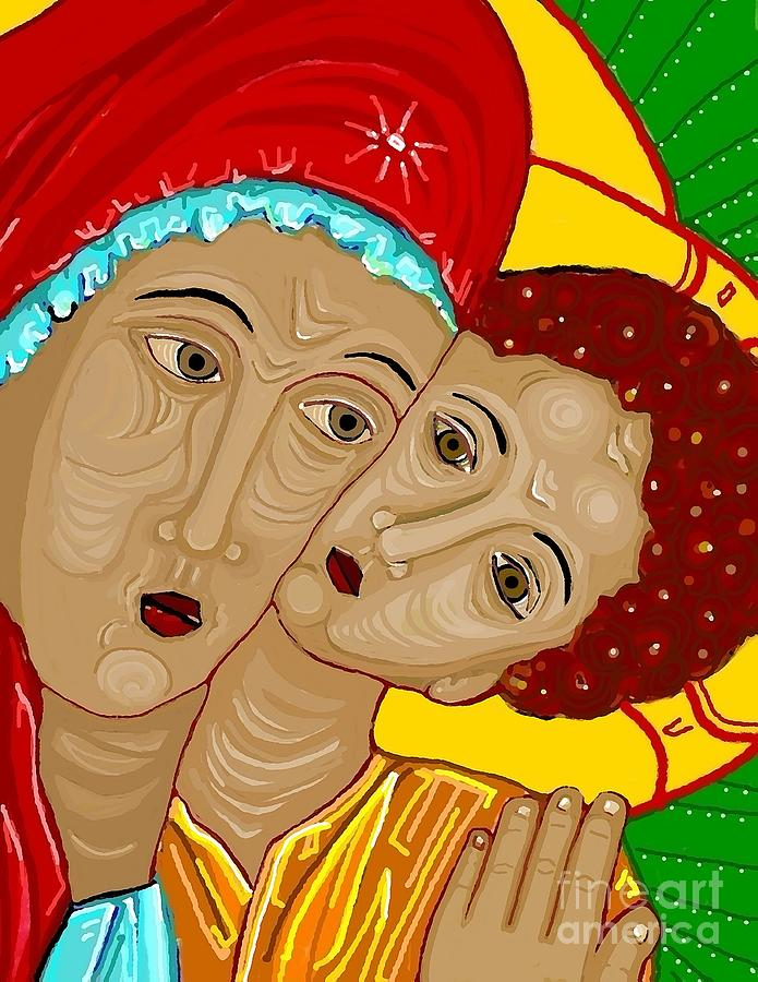 Theotokos Digital Art