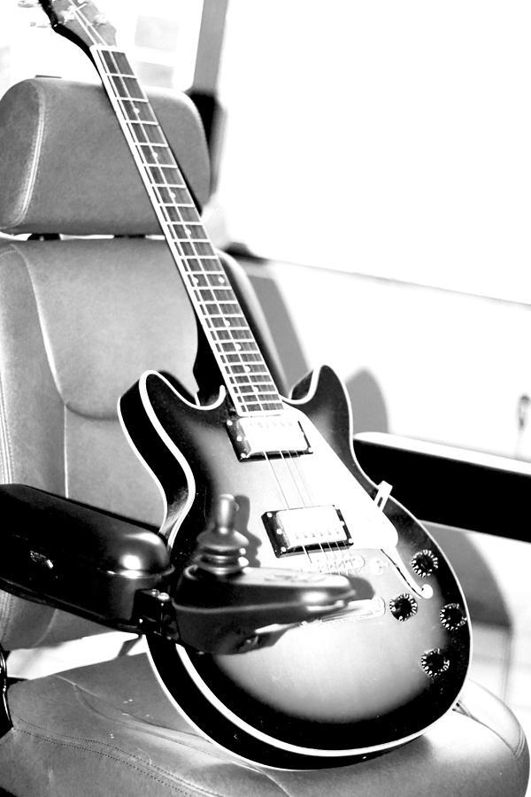 Acoustic Photograph - Therapeutic Guitar 3 by Sandra Pena de Ortiz