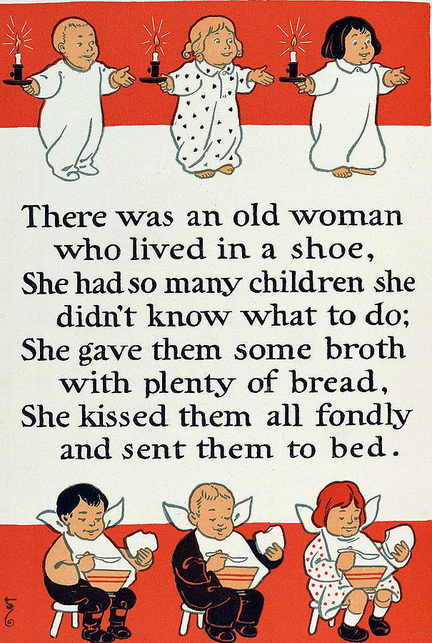 There Was An Old Women Who Lived In A Shoe Digital Art