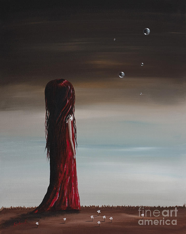 They Say Shes A Dreamer By Shawna Erback Painting  - They Say Shes A Dreamer By Shawna Erback Fine Art Print