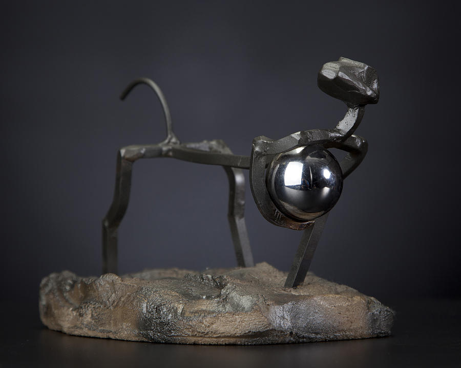 Steel Sculpture Sculpture - Thief Of World by Tom Wright