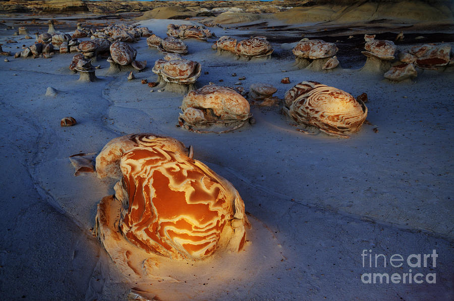 Things That Go Bump In The Bisti/de-na-zin Wilderness At Night Photograph