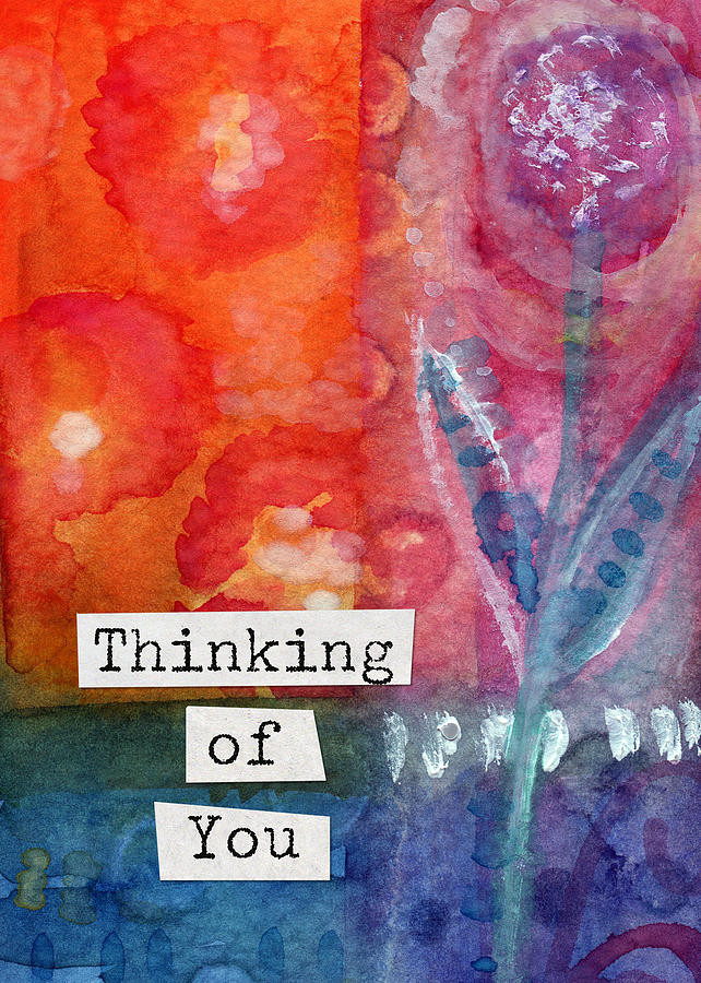 Thinking Of You Art Card Painting