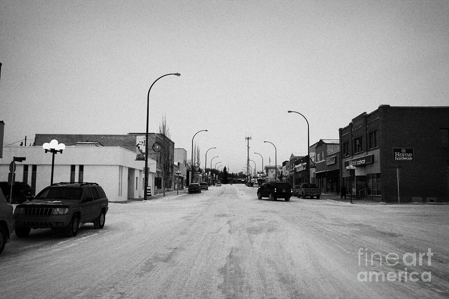 third avenue main street through Kamsack Saskatchewan Canada Photograph  - third avenue main street through Kamsack Saskatchewan Canada Fine Art Print