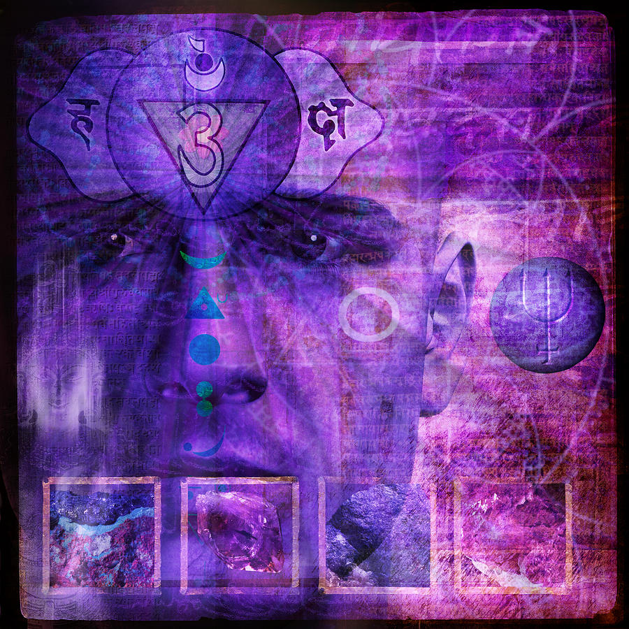 Third Eye Chakra Digital Art  - Third Eye Chakra Fine Art Print