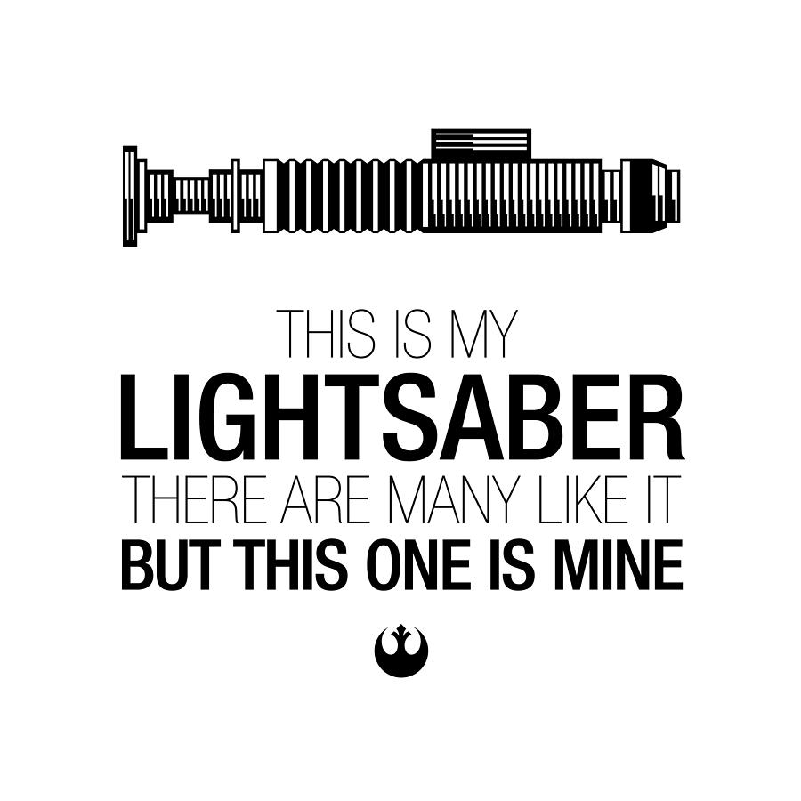 This Is Lukes Lightsaber Digital Art  - This Is Lukes Lightsaber Fine Art Print