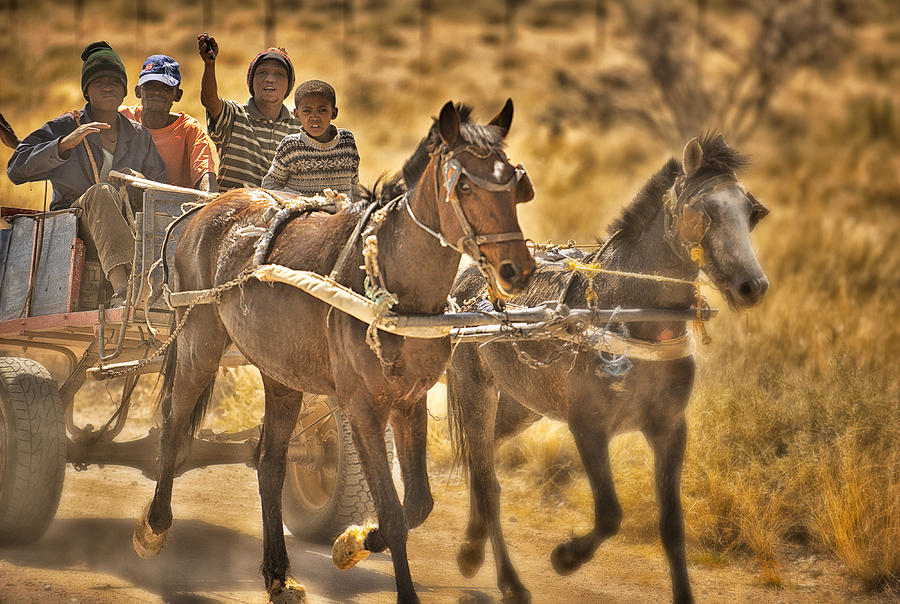 This Is Namibia No. 23 - Going To Town The Old Fashioned Way Photograph  - This Is Namibia No. 23 - Going To Town The Old Fashioned Way Fine Art Print