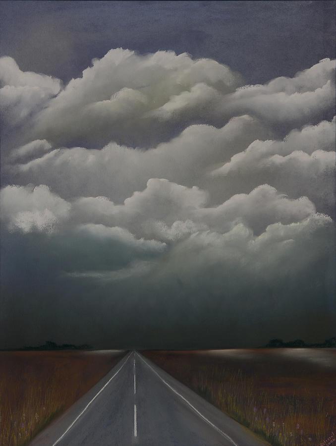 Sky Pastel - This Menacing Sky by Cynthia Lassiter