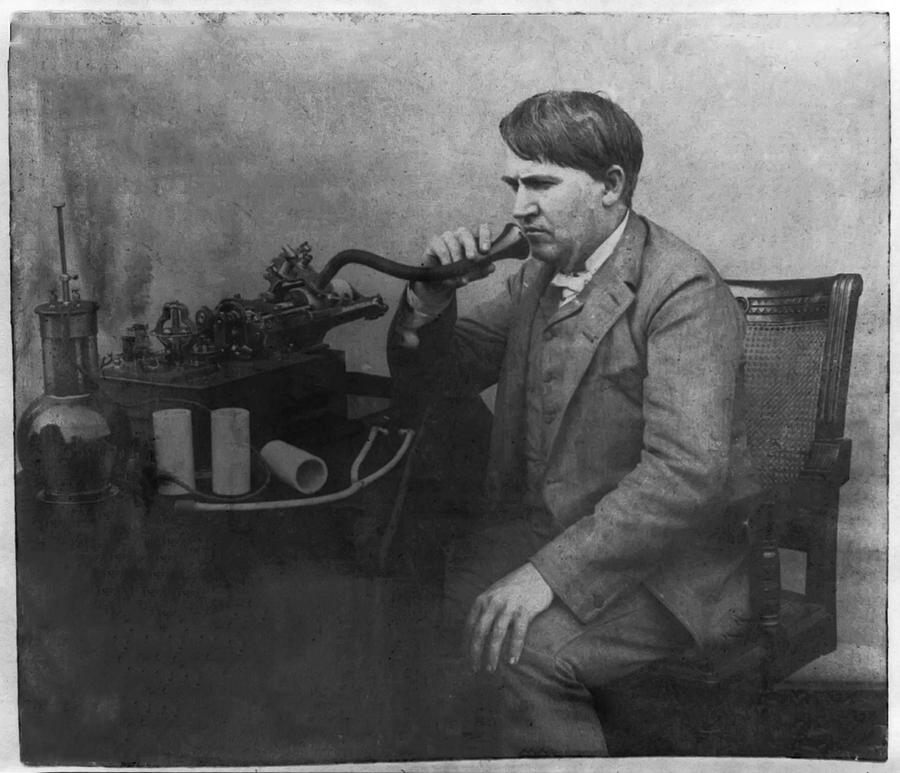 Thomas Alva Edison 1892 Photograph